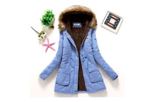 Dámská zimní bunda Jane - Světle modrá-velikost č. XL - dodání do 2 dnů