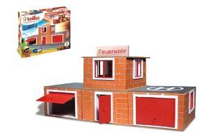 Teifoc Stavebnice Hasičská stanice 220ks v krabici 35x29x8cm