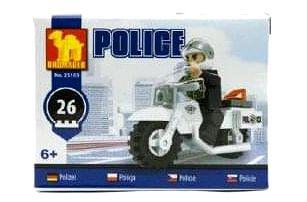 Dromader Policie Stavebnice Motorka 26ks