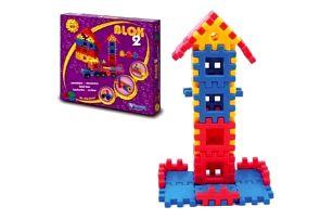Blok 2 Stavebnice plast 1v krabici 35x33x8cm