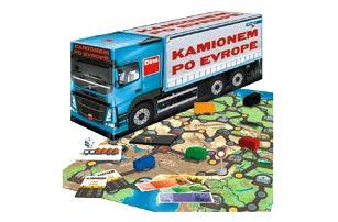 Kamionem po Evropě hra v krabici 36x16x10cm