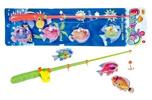 Hra ryby/rybář magnetické plast plast asst 2 barvy na kartě