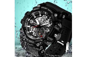 Pánské hodinky na sport s LED osvětlením - Zlatá - dodání do 2 dnů