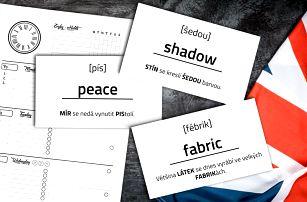 Naučte se anglicky! Kartičky i diář Mnemory