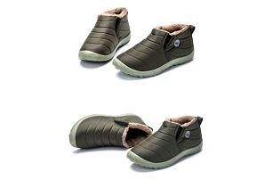 Unisex zimní kotníkové boty - Zelená-velikost 39 - dodání do 2 dnů