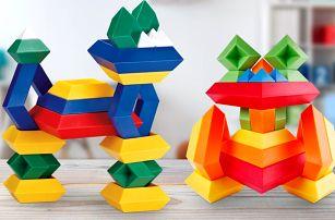 Stavebnice ve tvaru pyramidy pro rozvoj dítěte