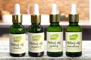 Bio olejíčky: ricinový, arganový i jojobový