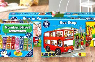 Vzdělávací hry Orchard Toys pro děti už od 2 let