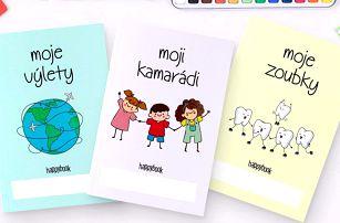 Hravé dětské zápisníky: výlety, knížky, kresby