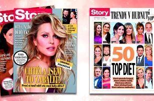 Svět celebrit: roční předplatné časopisu Story