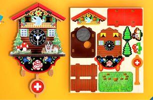 Sestavte si sami: švýcarské nástěnné hodiny