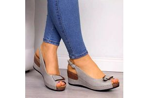 Dámské sandály na klínku Inila