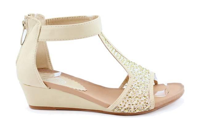 42c523e6f837 ALWAYS Béžové sandálky na klínku