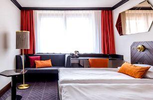 Designový hotel u Pražského hradu pro pár i rodinu