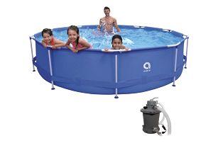 Bazén Sirocco Blue 360 x 76 cm set s pískovou filtrací