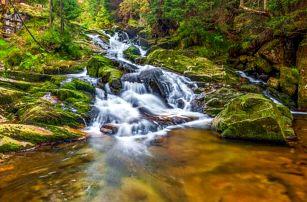 Krkonoše u Mumlavského vodopádu: Pension Katka Harrachov se snídaní formou bufetu