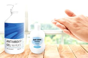 Dezinfekce Anti-COVID a antivirový gel na ruce