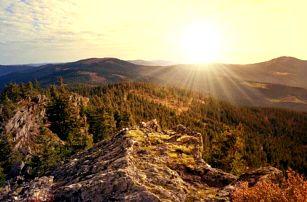 Šumava: Železná Ruda u hranic s Německem a Černého jezera v Hotelu Slávie s polopenzí
