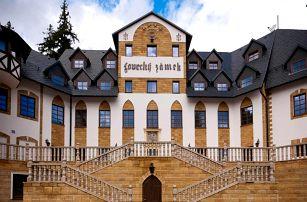 Královský rodinný pobyt na zámku Lužec – 7×noc v Deluxe pokoji + neomezený wellness