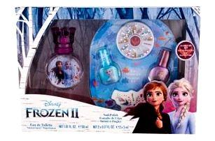 Disney Frozen II dárková kazeta pro děti toaletní voda 30 ml + lak na nehty 2 x 5 ml + pilník na nehty + zdobící kamínky na nehty