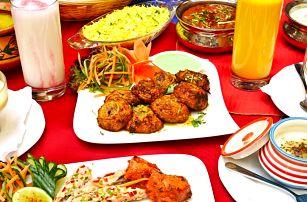 Otevřený voucher v hodnotě 700 Kč na indické menu