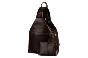 Dámský městský batoh/kabelka 3v1 z pravé kůže na jedno rameno - malý - Česká výroba