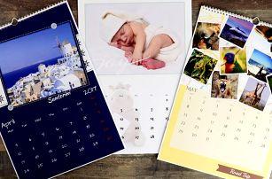 Nástěnné nebo stolní fotokalendáře: A4, A3 i XL