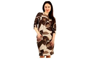 Vzorované dámské společenské šaty pro plnoštíhlé