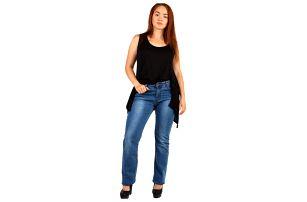 Dámské tmavé džíny pro plnoštíhlé