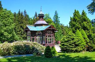 Jeseníky u Karlovy Studánky 250 m od sjezdovky v Penzionu Stonožka s polopenzí a wellness + dítě do 12 let