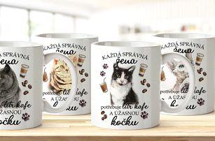 Keramické hrnky na kávu pro milovnice koček