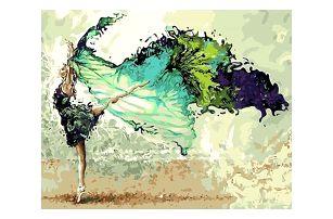 DIY obraz podle čísel - tanečnice