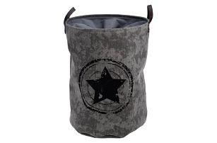 Koš na špinavé prádlo Stars, šedá