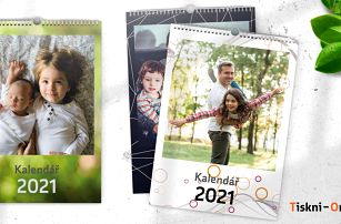 Fotokalendář z vlastních fotografií v kroužkové kovové vazbě