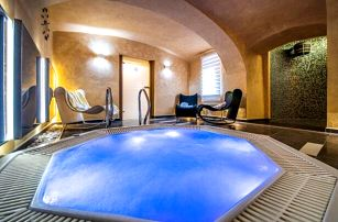 Vysočina u Telče v Hotelu Wellness Harmony **** s privátní vířivkou či saunou, láhví sektu a polopenzí