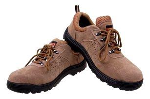 Boty pracovní kožené béžové vel. 43