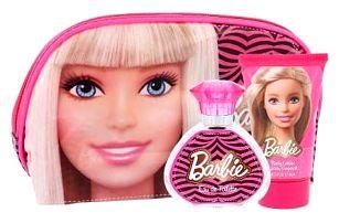 Barbie Barbie dárková kazeta pro děti toaletní voda 50 ml + tělové mléko 100 ml + kosmetická taška