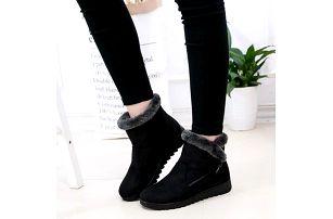 Kotníkové zimní boty ve stylu válenek - dodání do 2 dnů