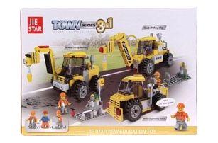 Dětská stavebnice stavební stroje 3v1