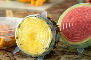 Sada silikonových pokliček pro uchování potravin