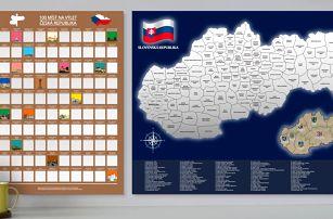 Stírací plakáty: Zajímavá místa k navštívení v ČR i SR