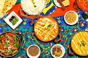 Indické menu: polévka a hlavní chod podle výběru