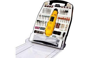 Timbertech 74104 Mini bruska v plastové krabičce, 243 nástrojů