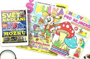Předplatné časopisu Šikulka s omalovánkami a bonusem