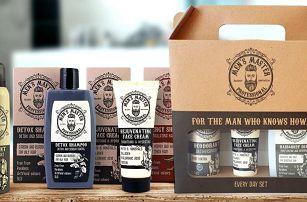 Pánské šampony, mýdlo, voda po holení i dárkové sety