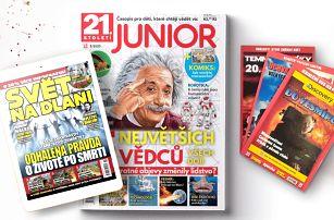 Předplatné časopisu Junior a el. verze Světa na dlani