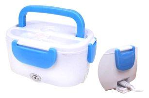 Elektrická krabička na jídlo modrá