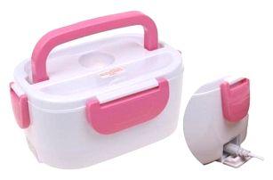 Elektrická krabička na jídlo růžová