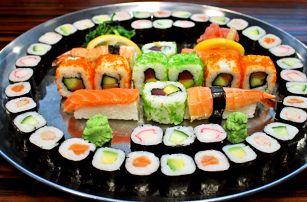 24–52 ks sushi: vege i s lososem či krevetou
