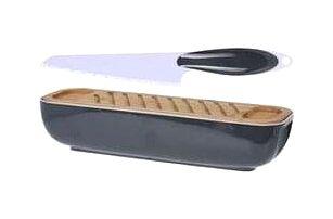 Box na chléb s krájecím prkénkem a nožem